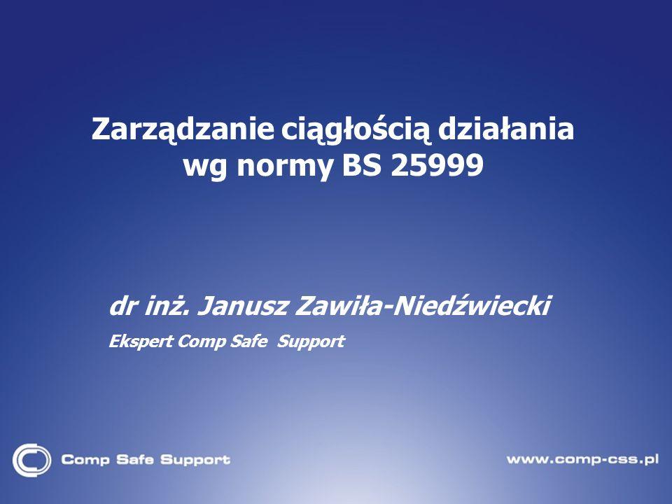 dr inż. Janusz Zawiła-Niedźwiecki Ekspert Comp Safe Support