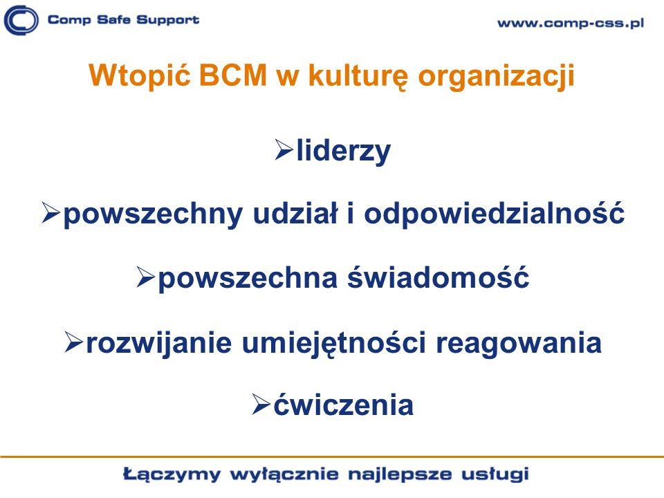Wtopić BCM w kulturę organizacji