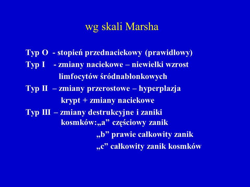 wg skali Marsha Typ O - stopień przednaciekowy (prawidłowy)