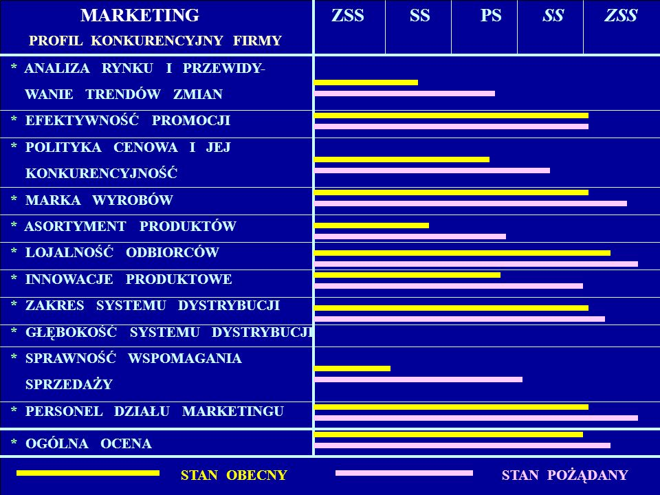MARKETING ZSS SS PS SS ZSS * ANALIZA RYNKU I PRZEWIDY-