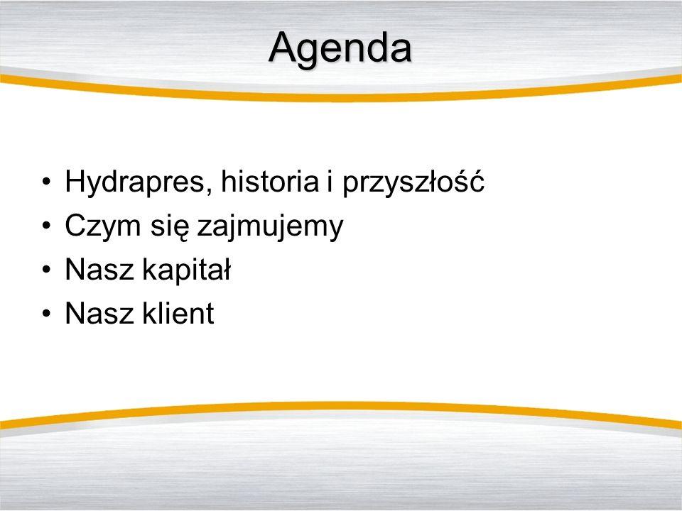 Agenda Hydrapres, historia i przyszłość Czym się zajmujemy