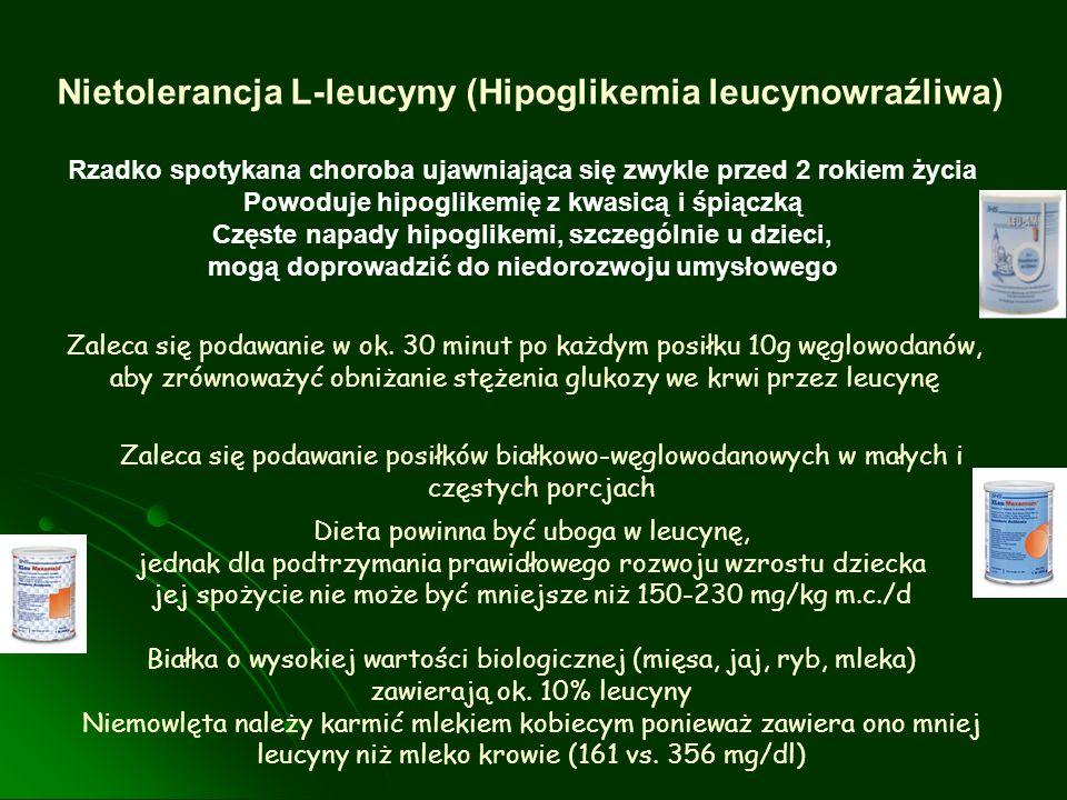 Nietolerancja L-leucyny (Hipoglikemia leucynowraźliwa)