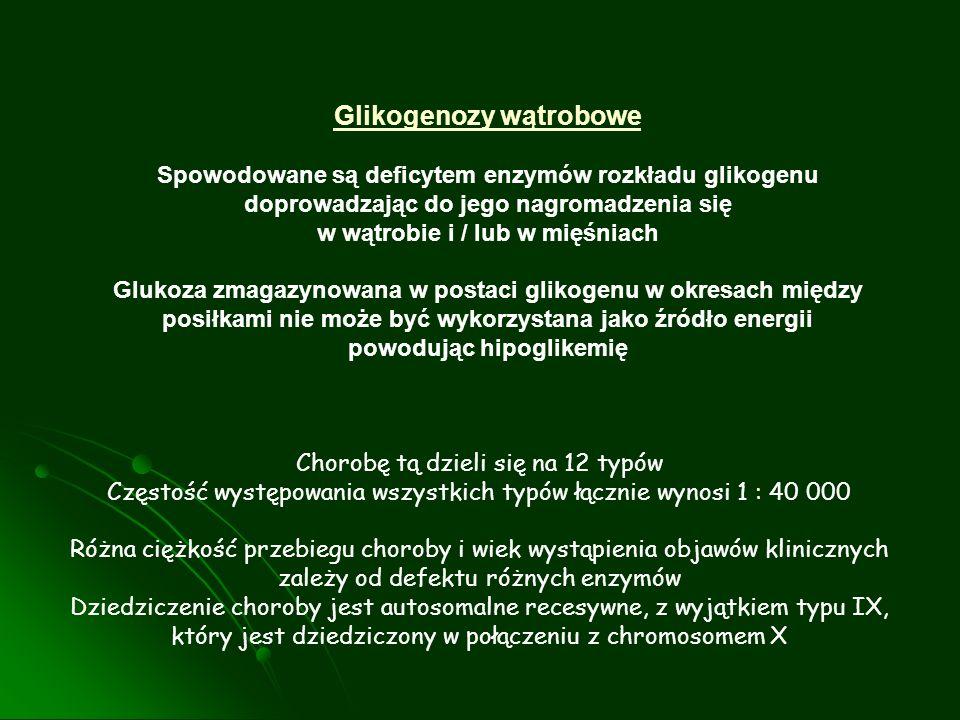 Glikogenozy wątrobowe w wątrobie i / lub w mięśniach