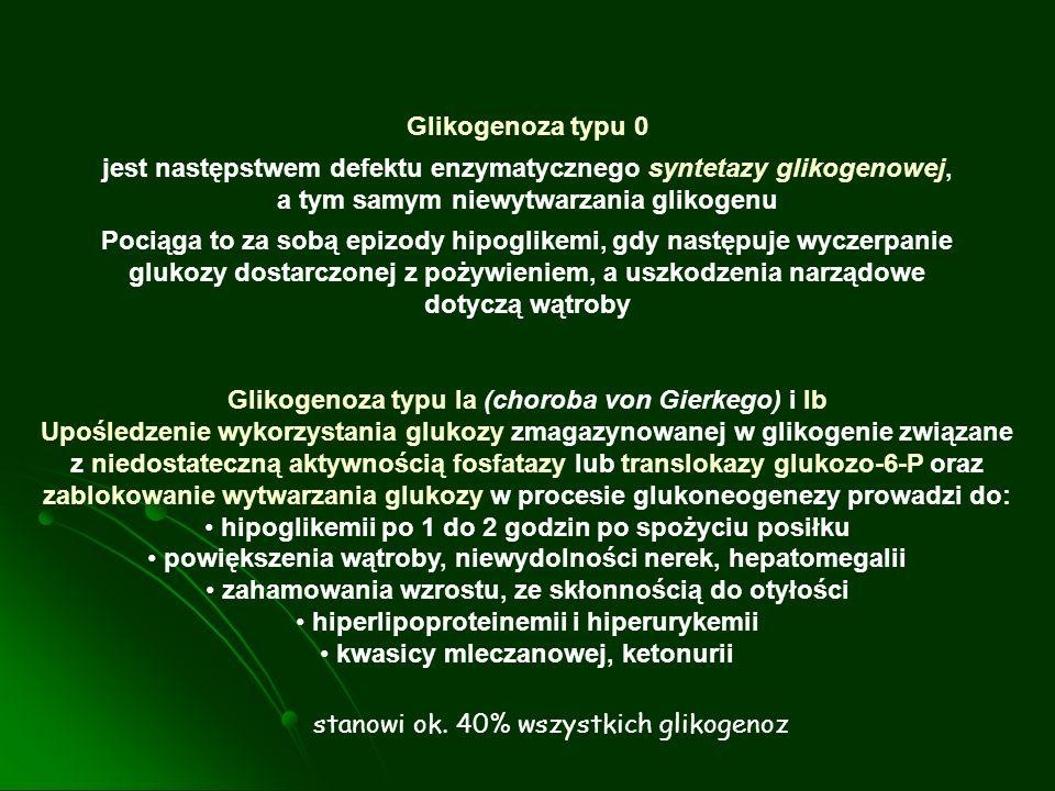 Glikogenoza typu Ia (choroba von Gierkego) i Ib