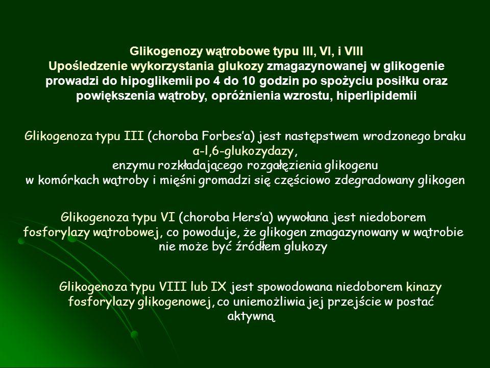 Glikogenozy wątrobowe typu III, VI, i VIII