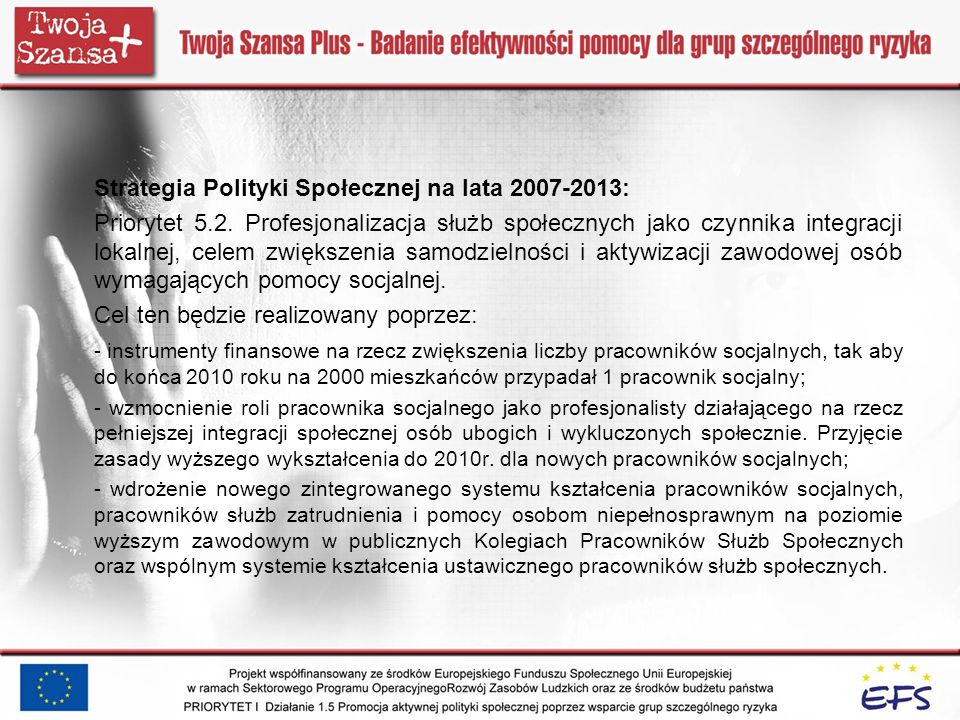 Strategia Polityki Społecznej na lata 2007-2013: