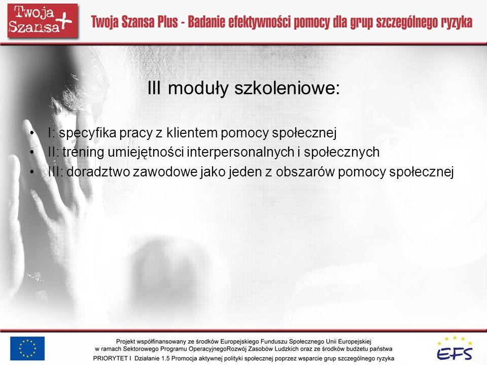 III moduły szkoleniowe: