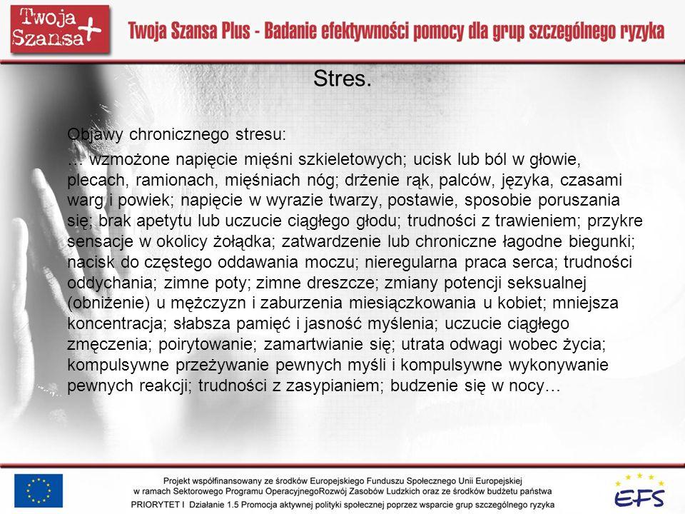 Stres. Objawy chronicznego stresu: