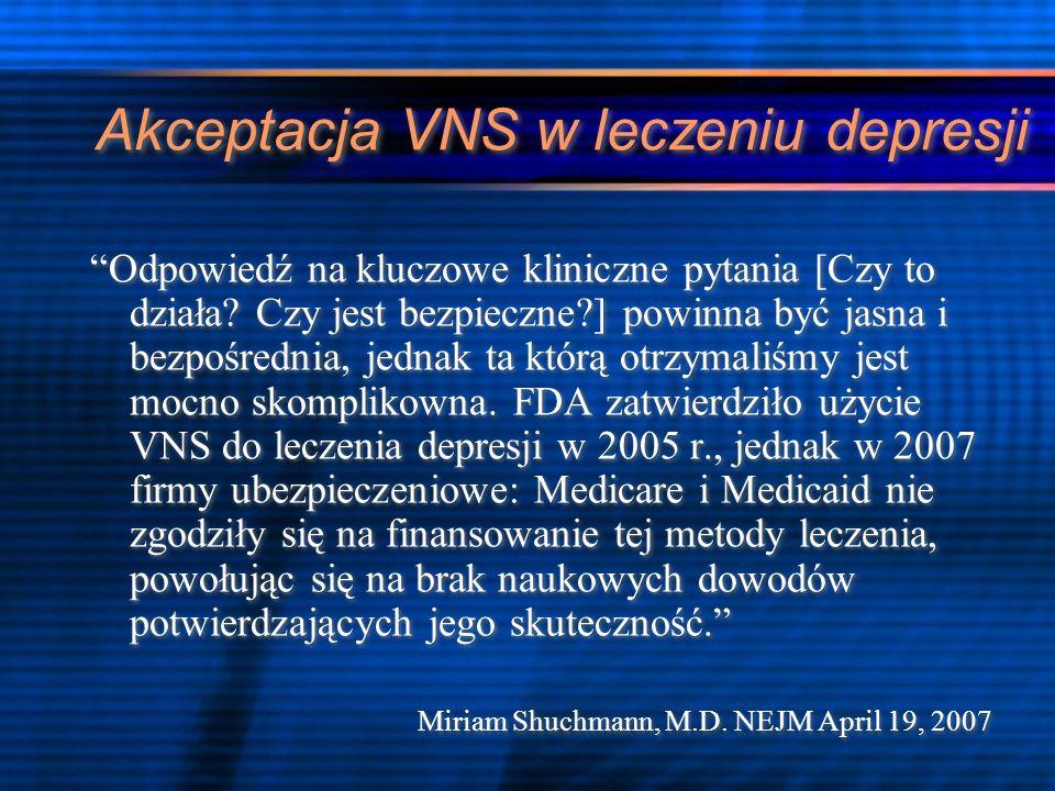 Akceptacja VNS w leczeniu depresji