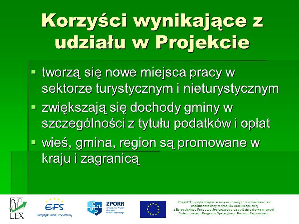Korzyści wynikające z udziału w Projekcie