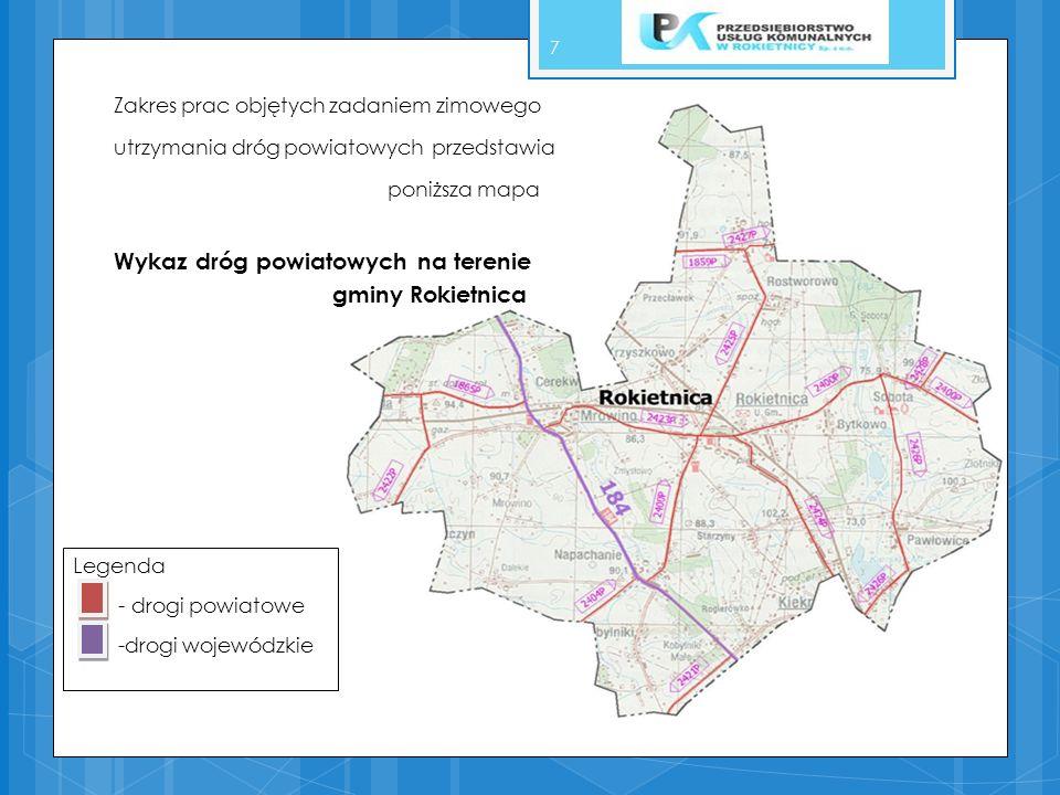 Wykaz dróg powiatowych na terenie gminy Rokietnica