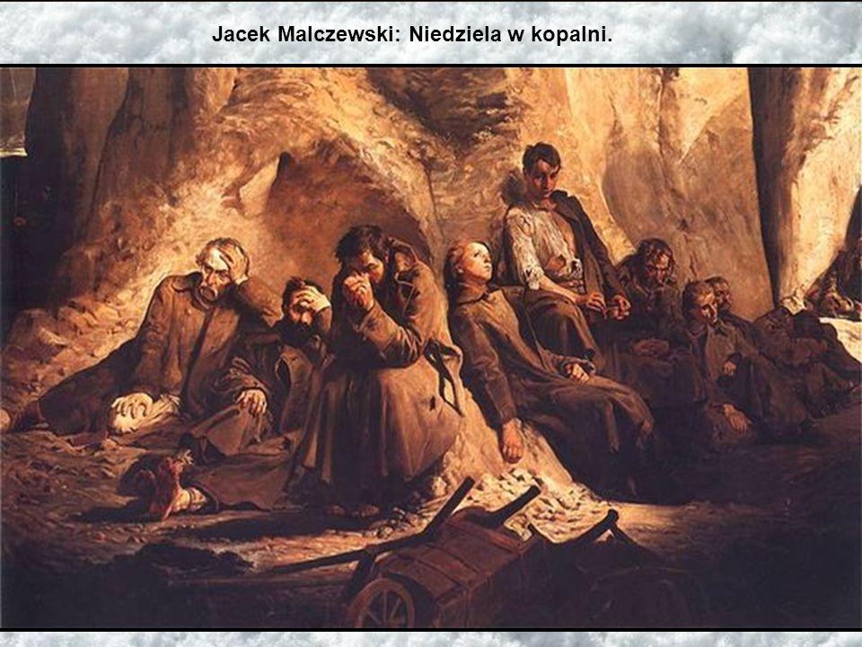 Jacek Malczewski: Niedziela w kopalni.
