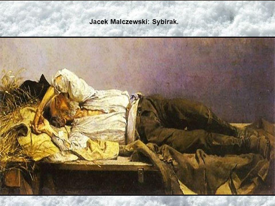 Jacek Malczewski: Sybirak.
