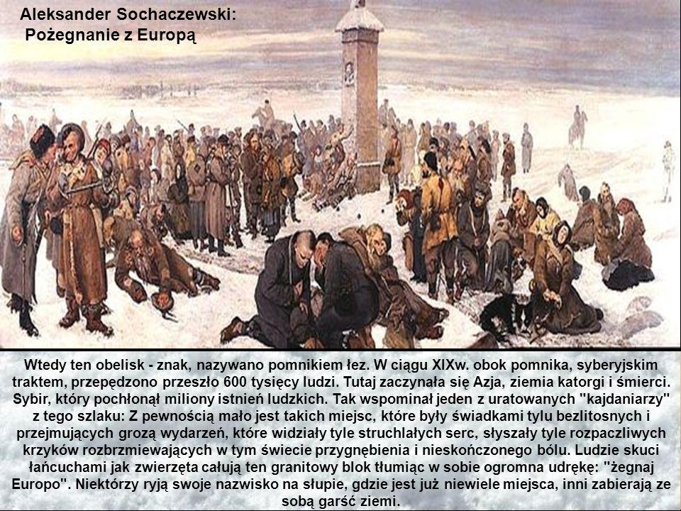 Aleksander Sochaczewski: Pożegnanie z Europą