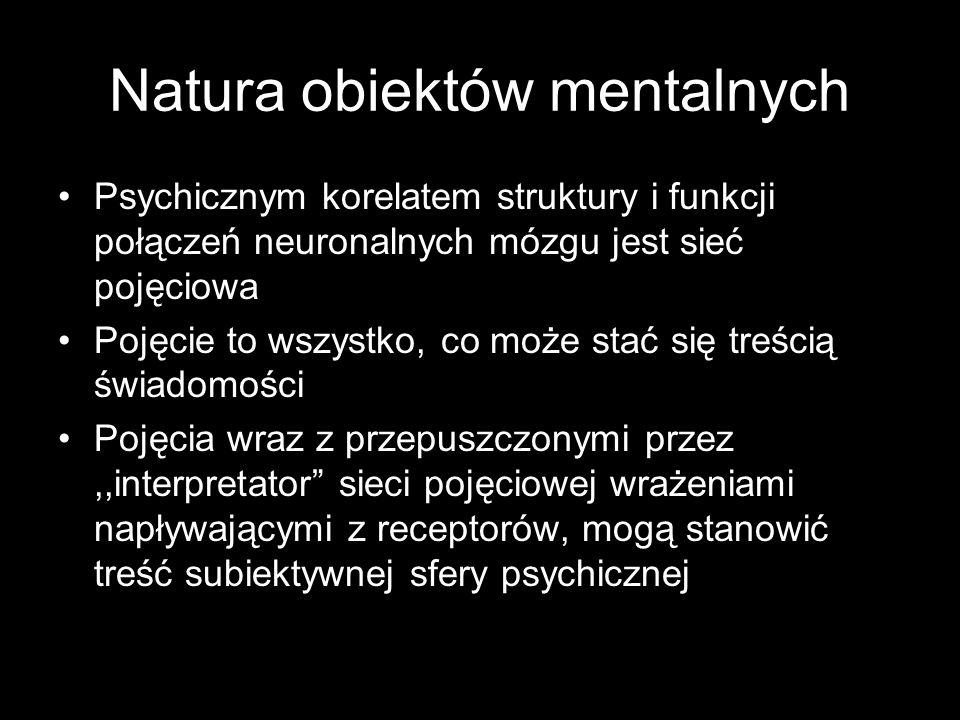 Natura obiektów mentalnych