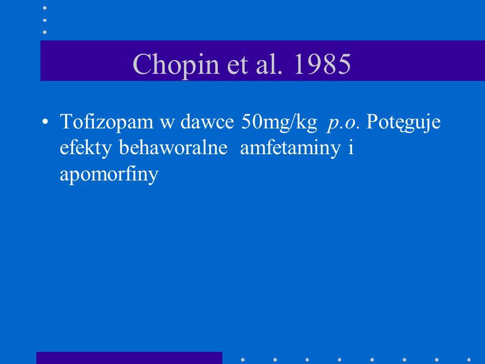 Chopin et al. 1985 Tofizopam w dawce 50mg/kg p.o.