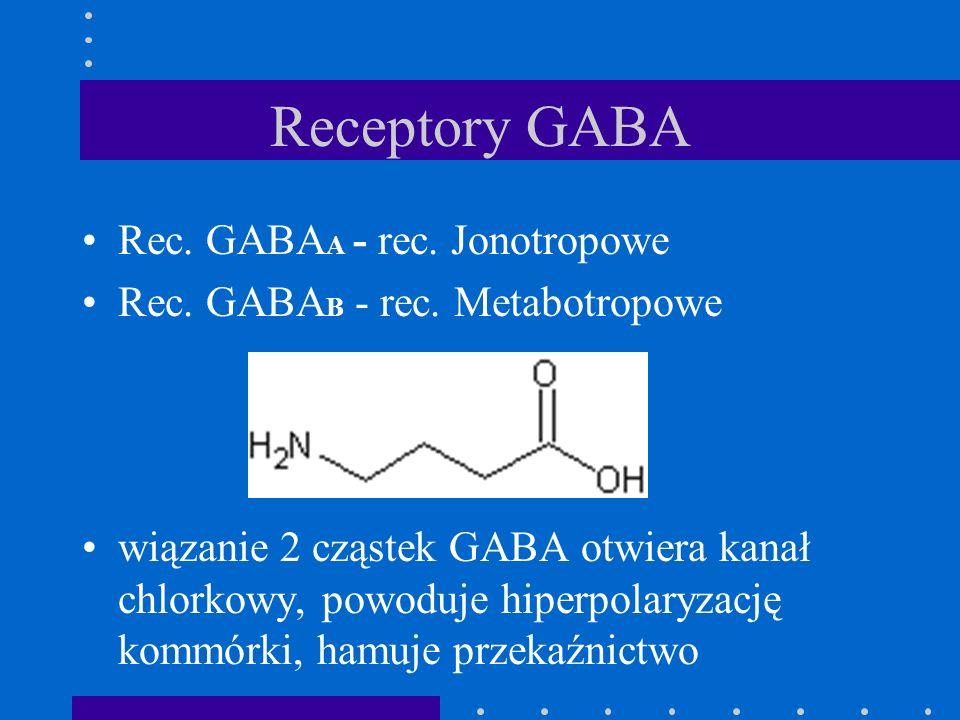 Receptory GABA Rec. GABAA - rec. Jonotropowe