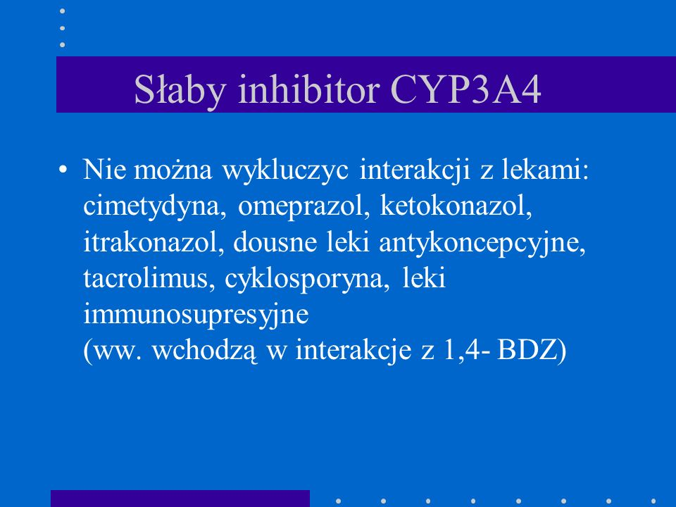 Słaby inhibitor CYP3A4