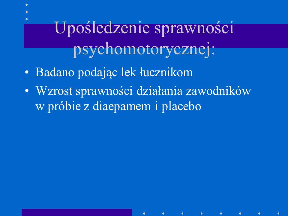 Upośledzenie sprawności psychomotorycznej: