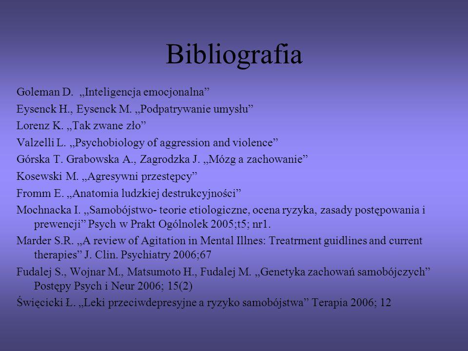 "Bibliografia Goleman D. ""Inteligencja emocjonalna"