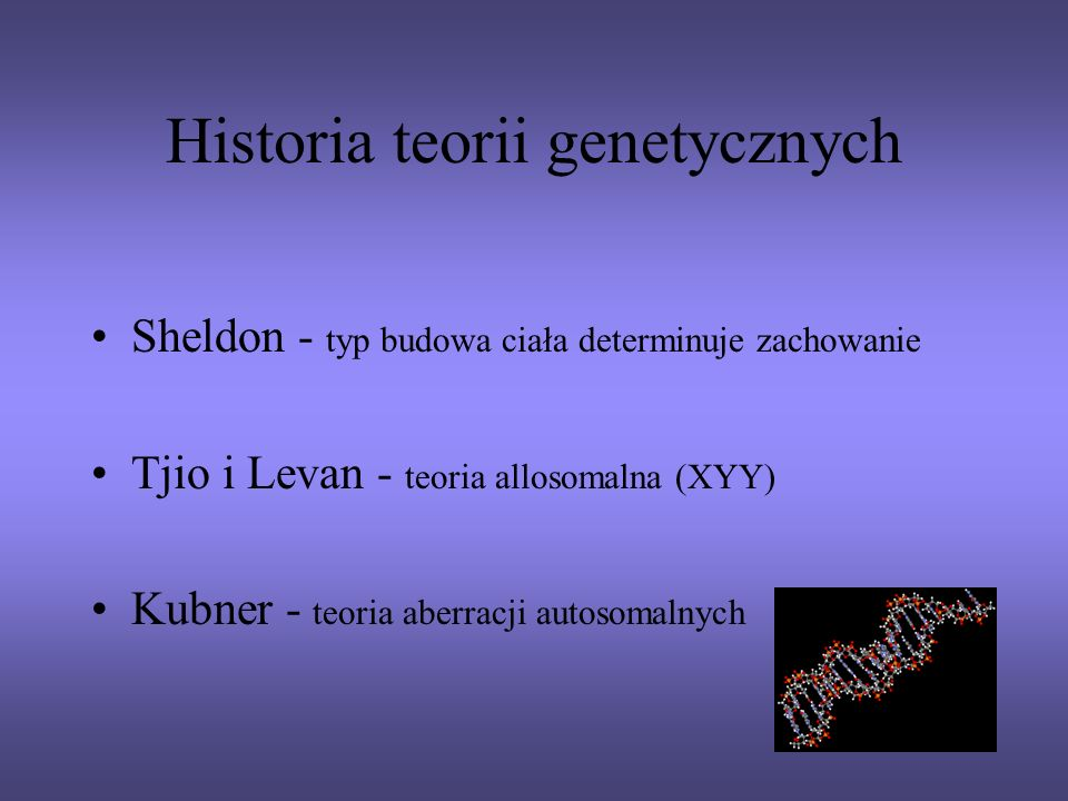 Historia teorii genetycznych