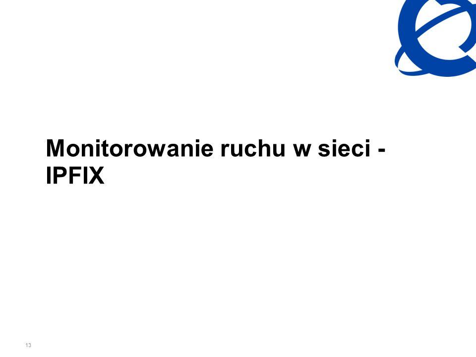 Monitorowanie ruchu w sieci - IPFIX