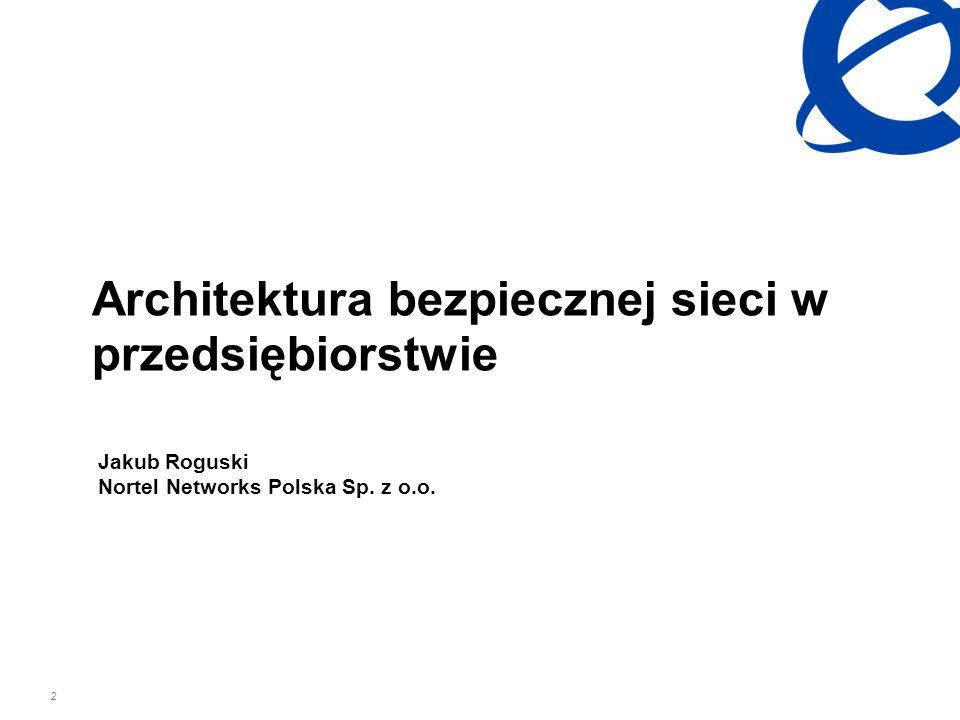 Architektura bezpiecznej sieci w przedsiębiorstwie