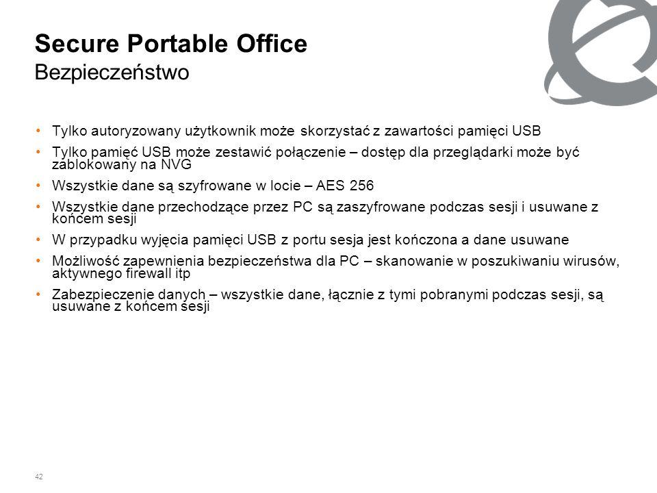 Secure Portable Office Bezpieczeństwo