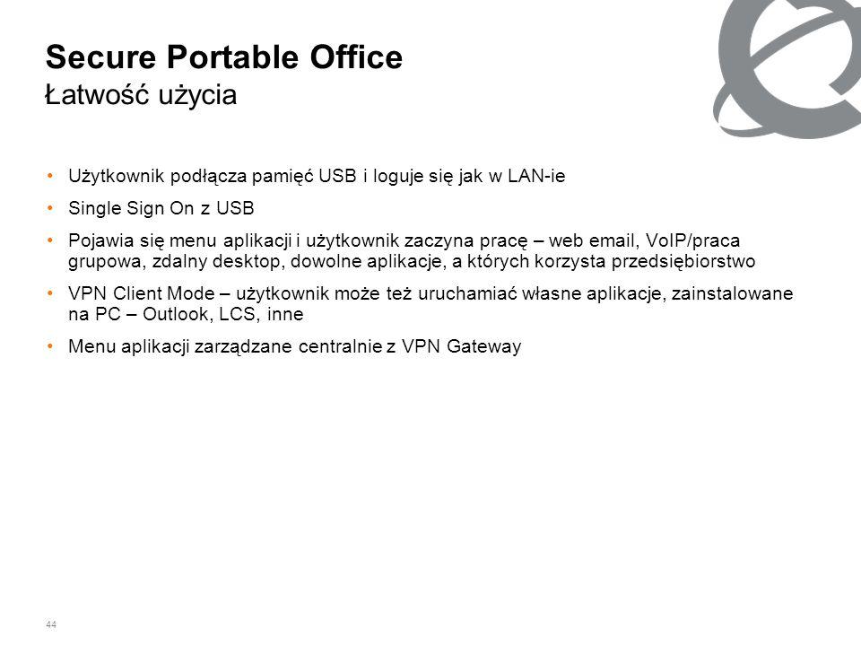 Secure Portable Office Łatwość użycia