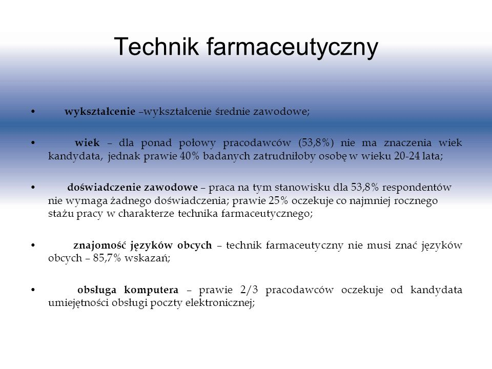 Technik farmaceutyczny