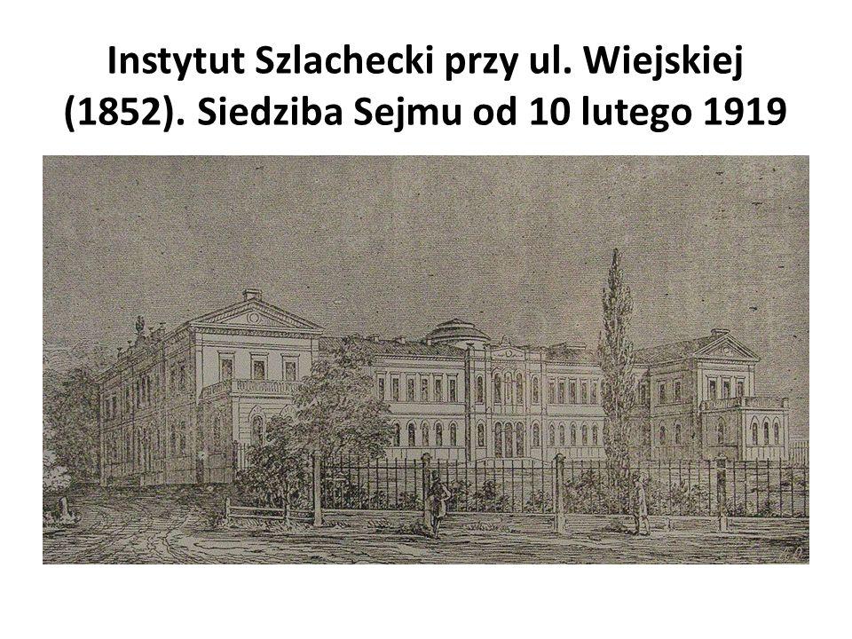 Instytut Szlachecki przy ul. Wiejskiej (1852)