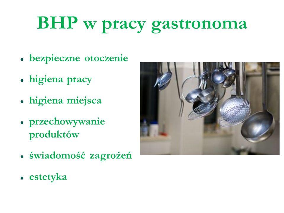 BHP w pracy gastronoma bezpieczne otoczenie higiena pracy