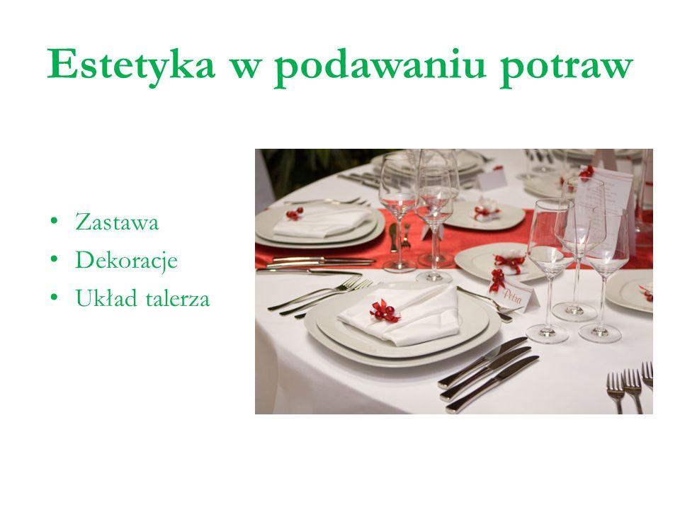 Estetyka w podawaniu potraw