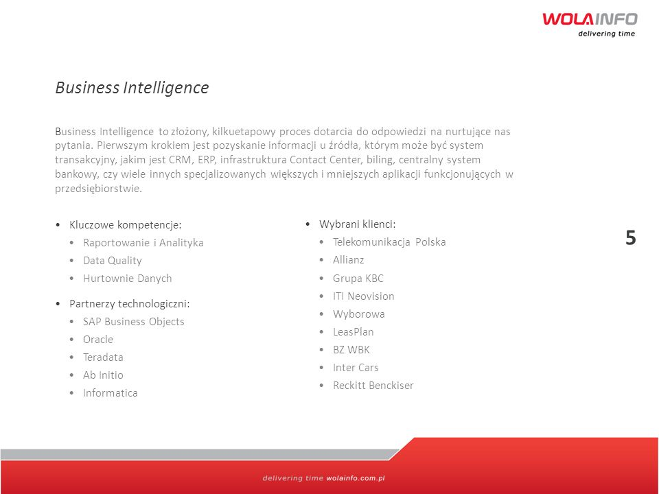 5 Business Intelligence