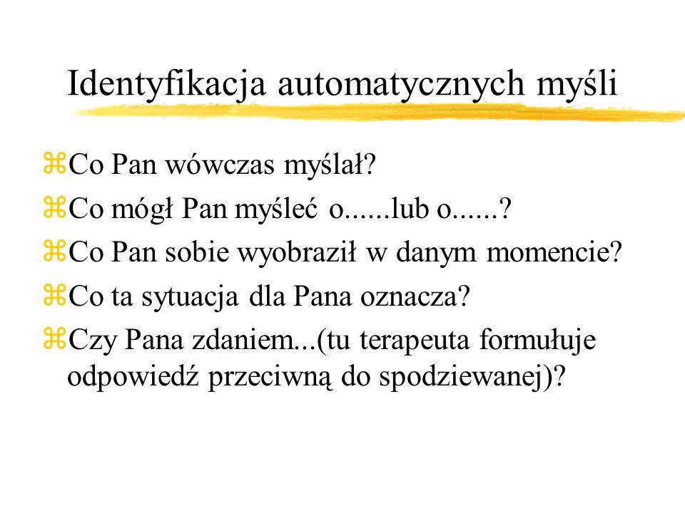 Identyfikacja automatycznych myśli
