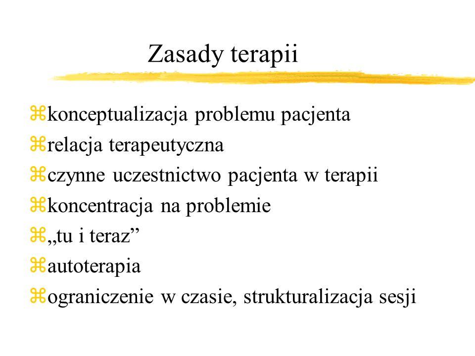 Zasady terapii konceptualizacja problemu pacjenta