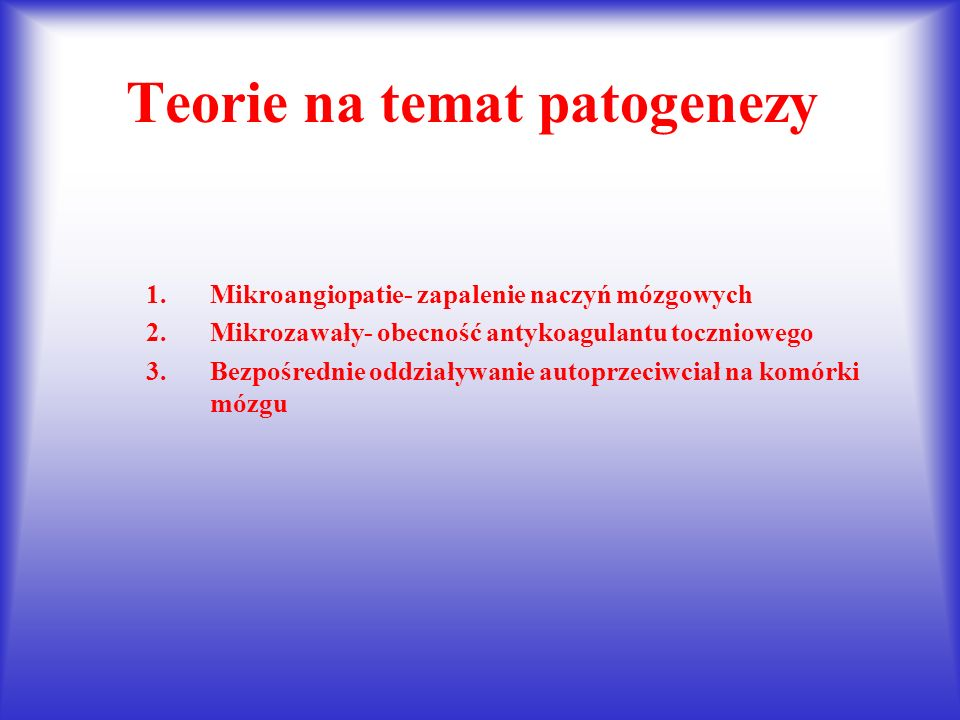 Teorie na temat patogenezy