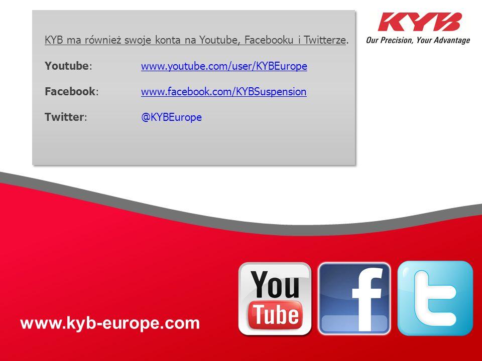 KYB ma również swoje konta na Youtube, Facebooku i Twitterze.