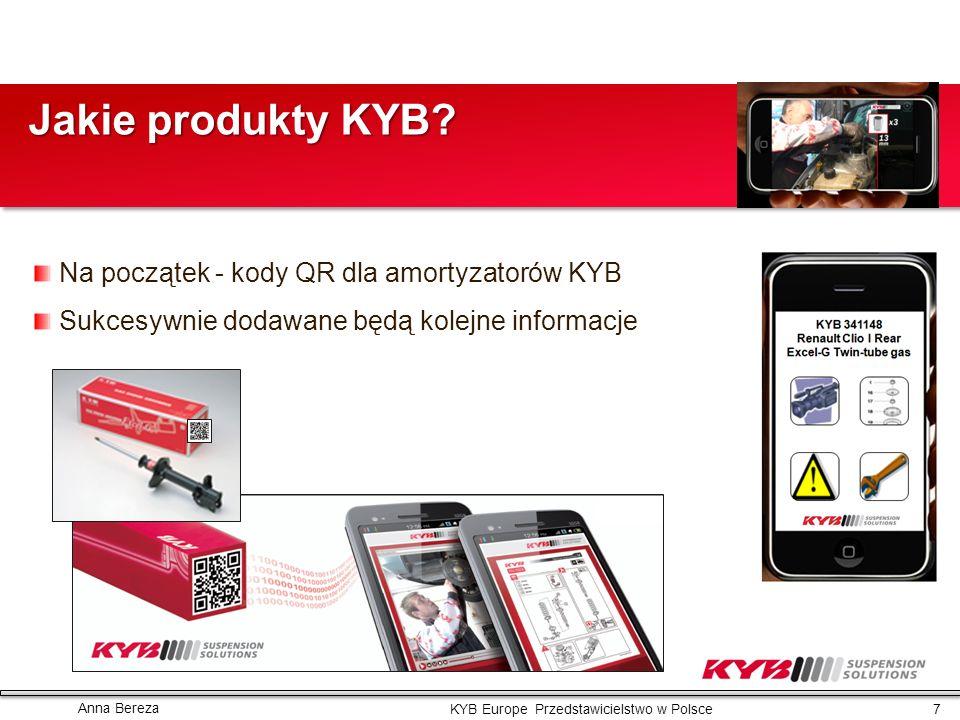 Jakie produkty KYB Na początek - kody QR dla amortyzatorów KYB