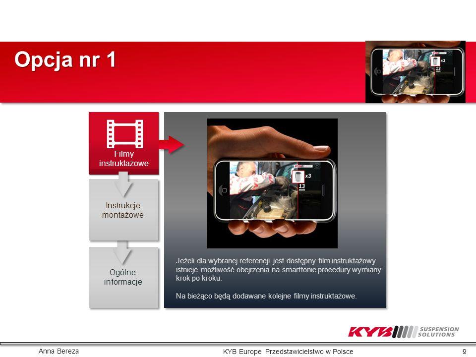 Opcja nr 1 Filmy instruktażowe Instrukcje montażowe Ogólne informacje