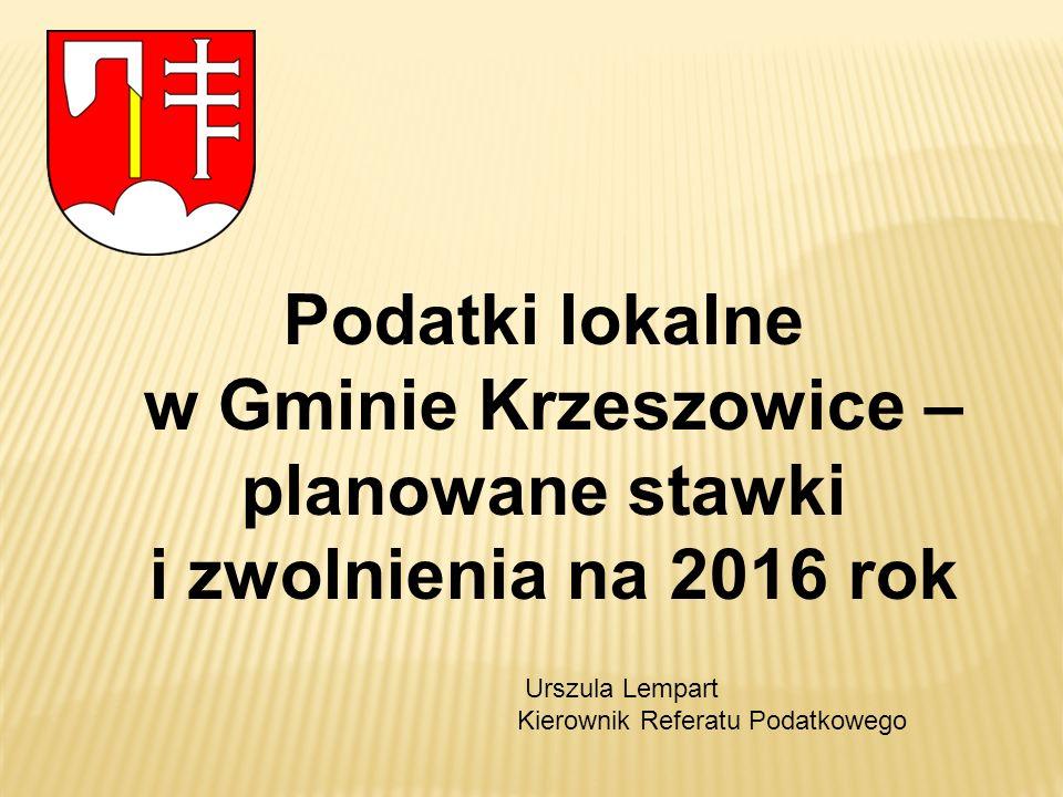 w Gminie Krzeszowice – planowane stawki