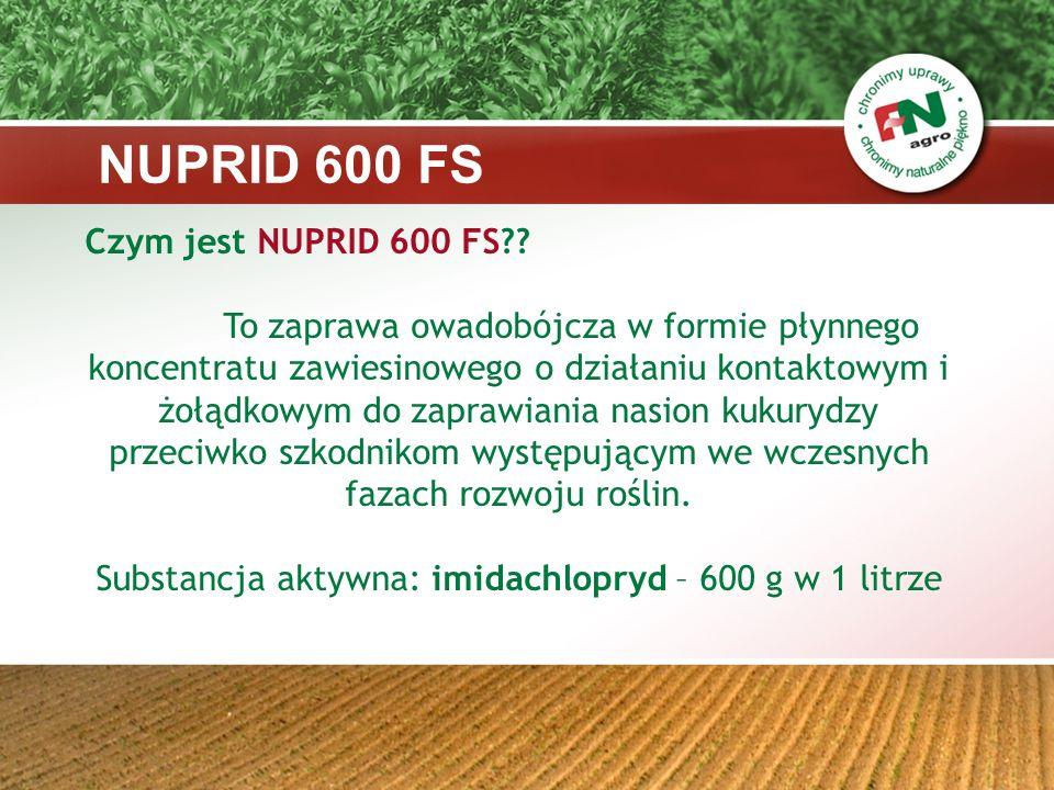 Substancja aktywna: imidachlopryd – 600 g w 1 litrze