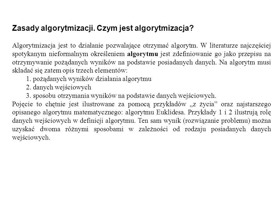 Zasady algorytmizacji. Czym jest algorytmizacja