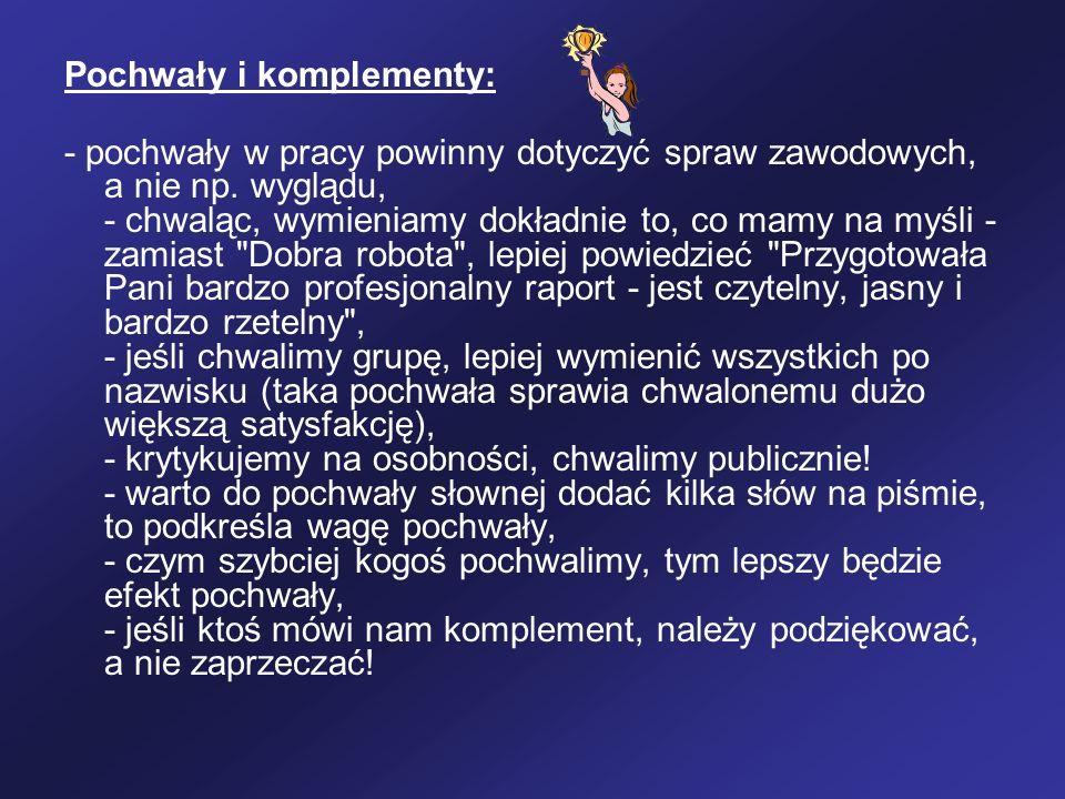 Pochwały i komplementy: