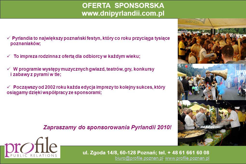 OFERTA SPONSORSKA www.dnipyrlandii.com.pl
