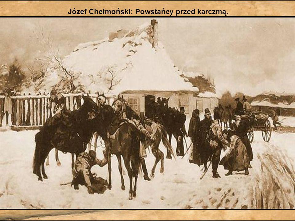 Józef Chełmoński: Powstańcy przed karczmą.