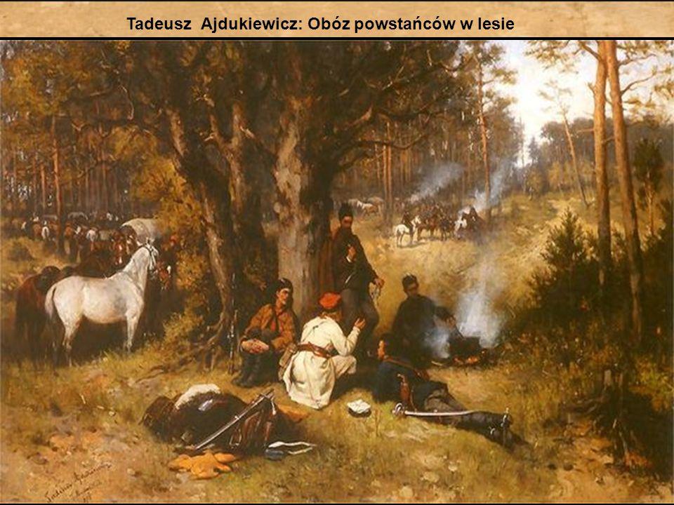 Tadeusz Ajdukiewicz: Obóz powstańców w lesie
