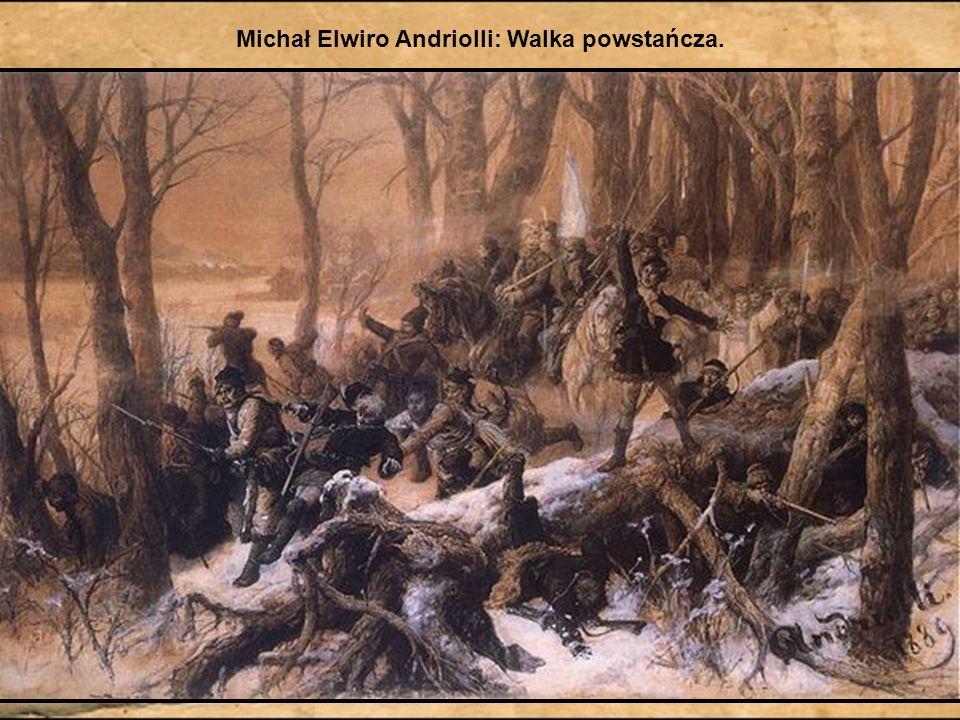 Michał Elwiro Andriolli: Walka powstańcza.