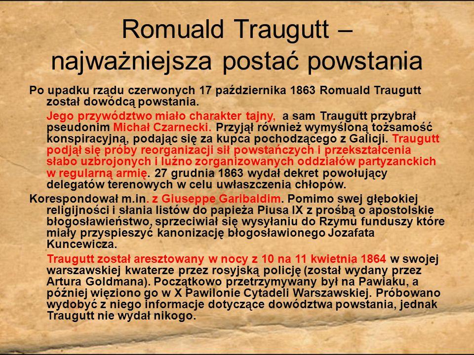 Romuald Traugutt – najważniejsza postać powstania