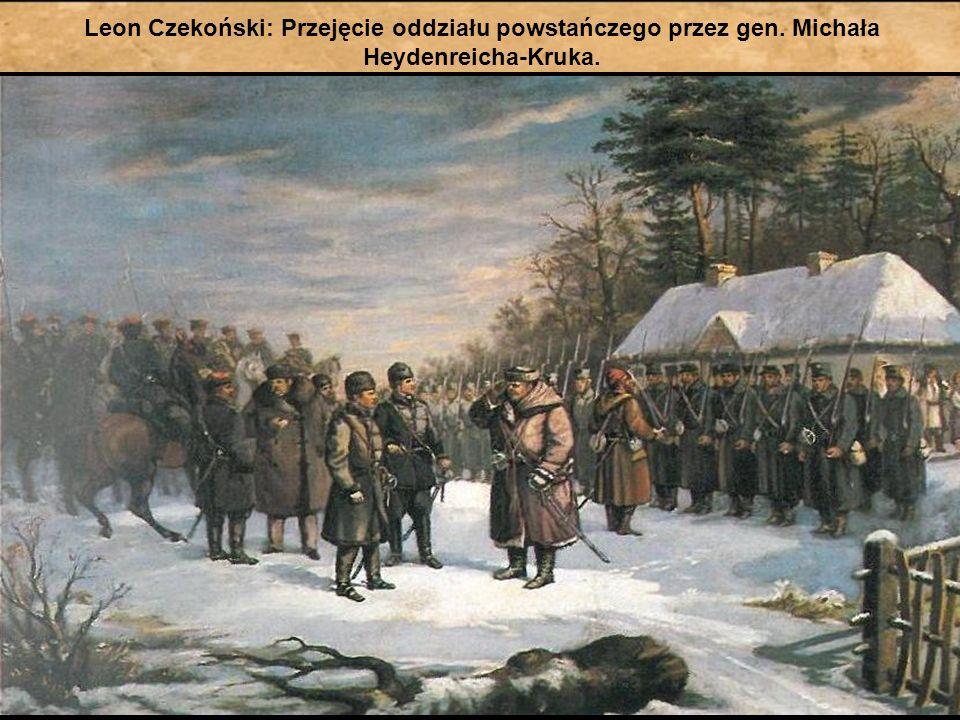 Leon Czekoński: Przejęcie oddziału powstańczego przez gen